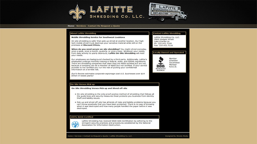 Lafitte Shredding Co. LLC