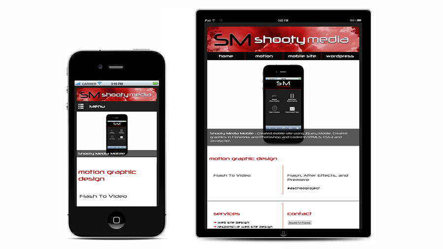 Shooty Media responsive design